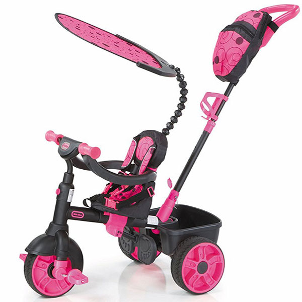 Tricikl sa ručkom i tendom 4u1 Roze Little Tikes LT634321 - ODDO igračke