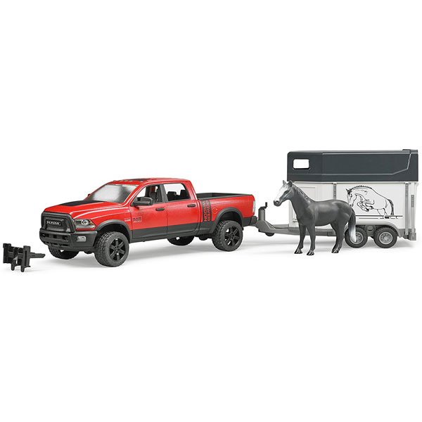 Dzip Ram 2500 Power Wagon sa prikolicom za konje Bruder 025014 - ODDO igračke