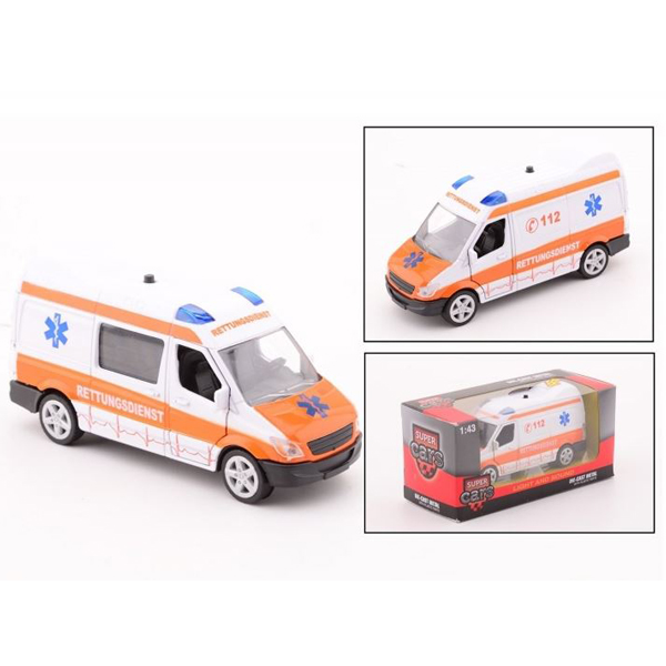 Auto Super Cars hitna pomoć sa svetlom i zvukom 26985 - ODDO igračke