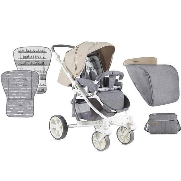 Kolica S-700 Grey & Beige Cities Bertoni 10020941747 - ODDO igračke