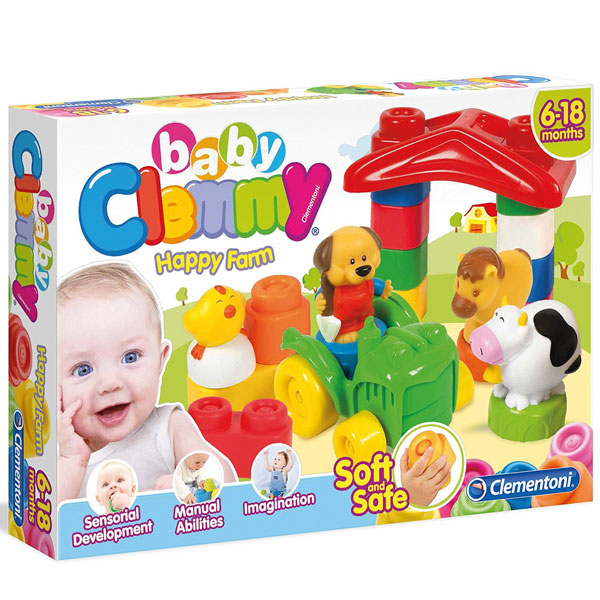 Mekane gumene kocke Clemmy Srećna Farma CL14954 - ODDO igračke