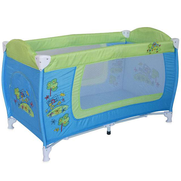 Prenosivi Krevetac Danny 1 Nivo Blue & Green Car 10080351714 | ODDO igračke