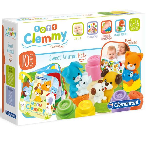 Mekane gumene kocke Clemmy Baby Životinje CL17175 - ODDO igračke