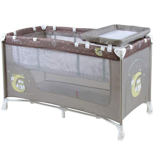 Prenosivi Krevetac Baby Nanny 2 Nivoa Beige Buho 10080191702 - ODDO igračke