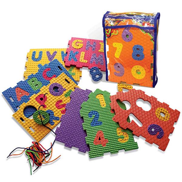 Podna puzzla Alphabet pertle 9106 - ODDO igračke